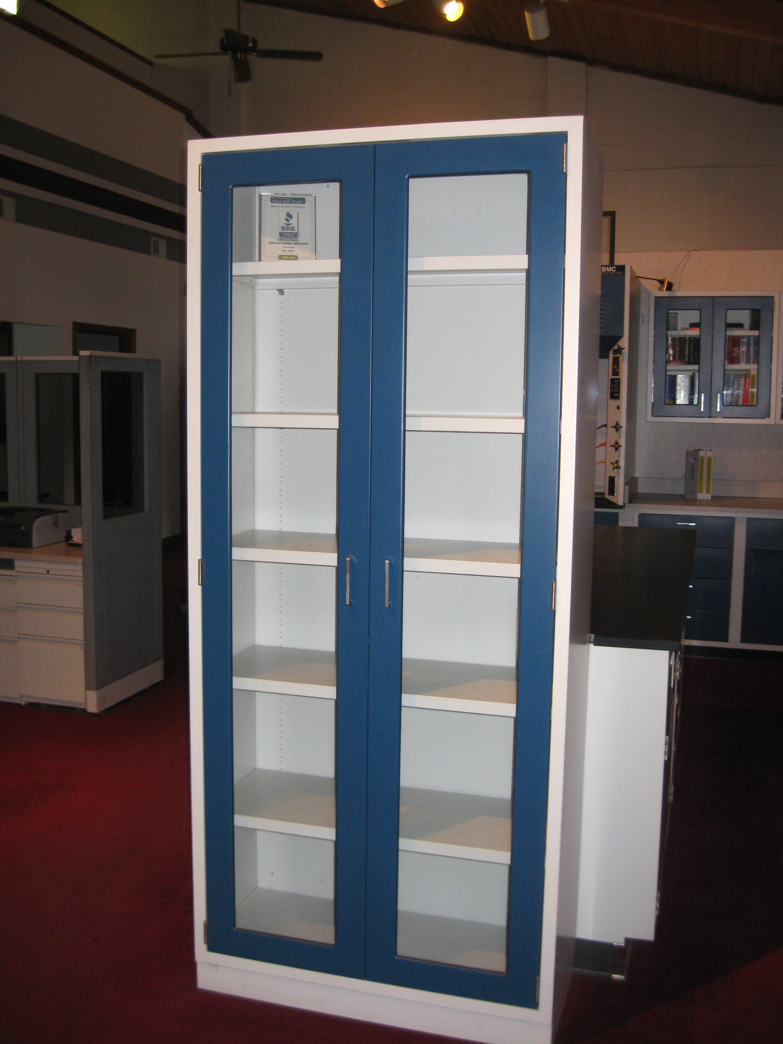 Lab Glass Cabinet Lab Floor Case Units Floor Glassware Cabinets With Doors  Or Without Doors Various Sizes And Configurations And Colors  Mint Mint  Made In ...